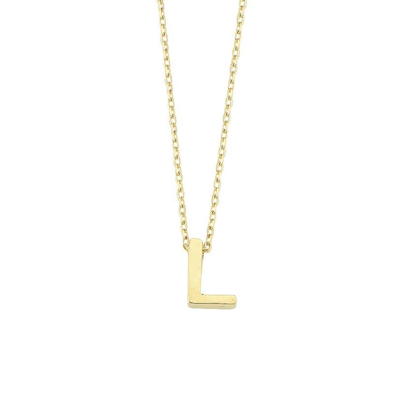 Altın L Harfi Kolye
