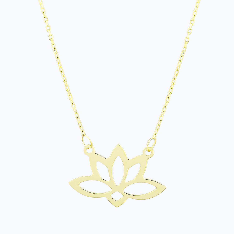 Altın Lotus Kolye
