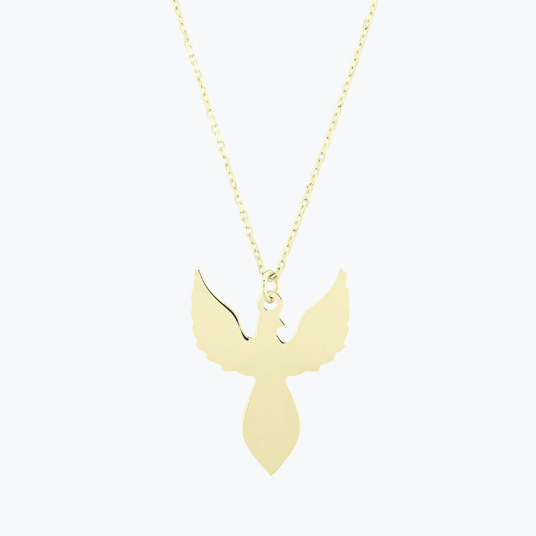 Altın Anka Kuşu Kolye