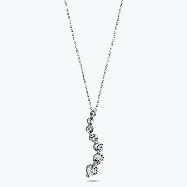 Seven Stone Diamond Necklace