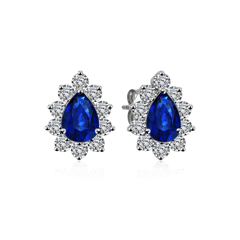 Diamond Sapphire Earrings