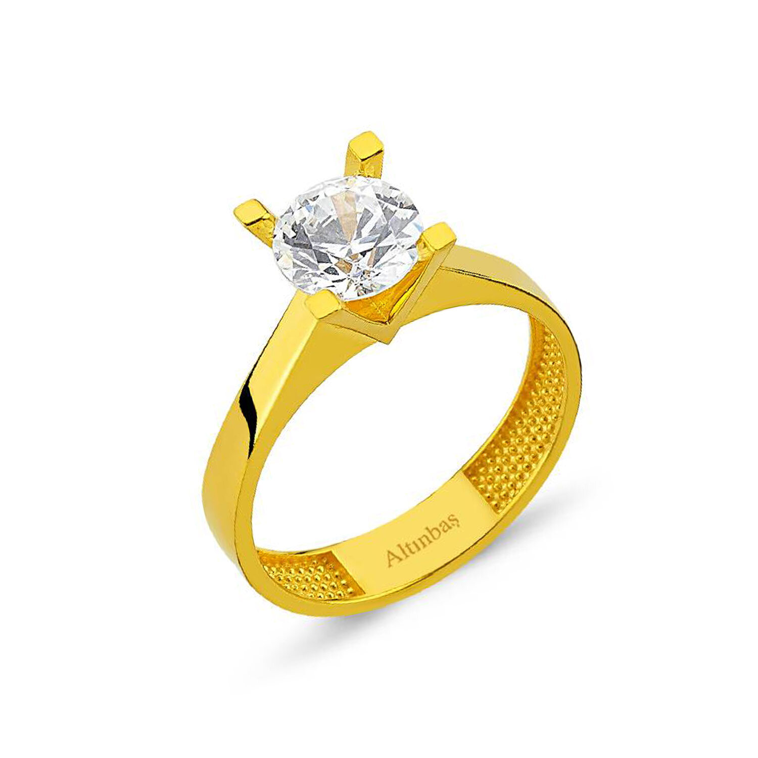 22 Carat Solitaire Gold Ring
