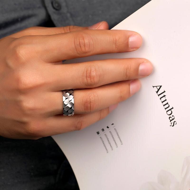 White Gold Couple Wedding Rings