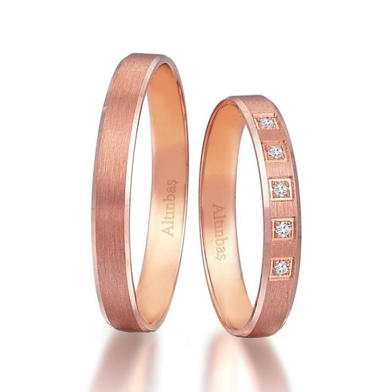 I&U Gold Couple Wedding Rings