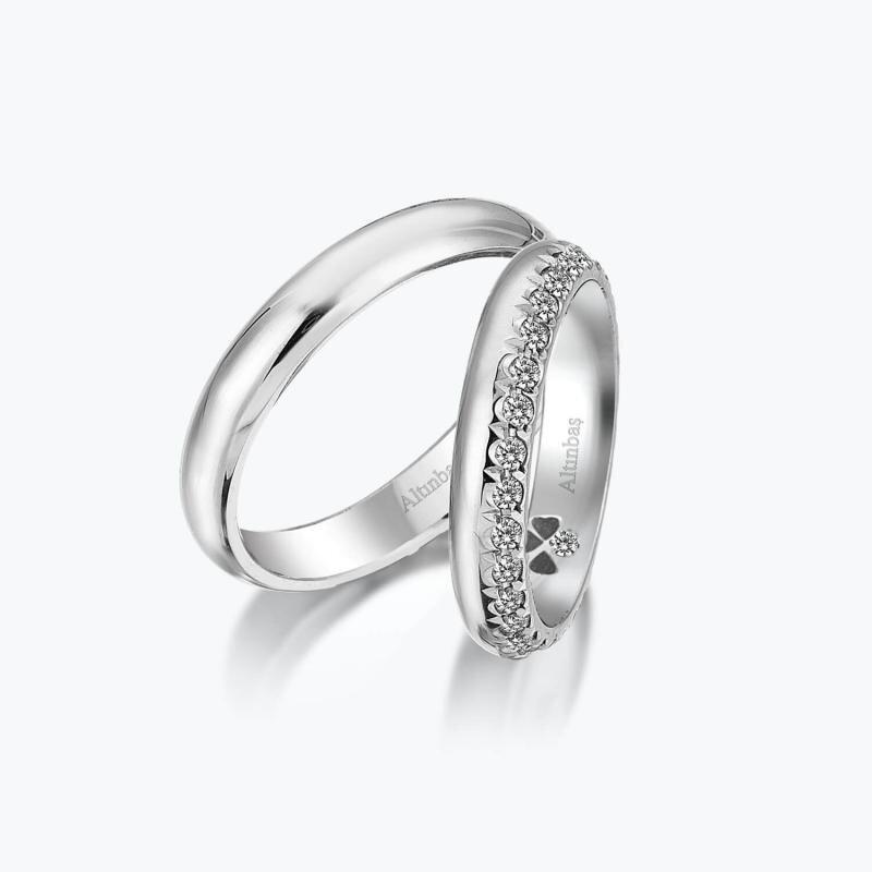 0.57 Carat Bagues de Mariage Diamant
