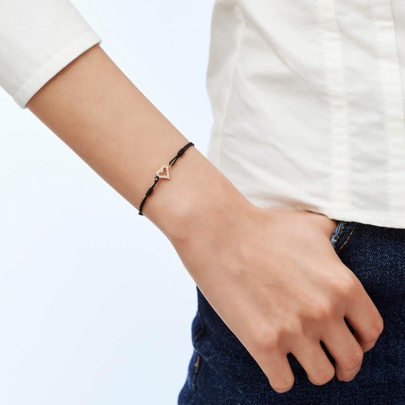 Heart Cord Gold Bracelet