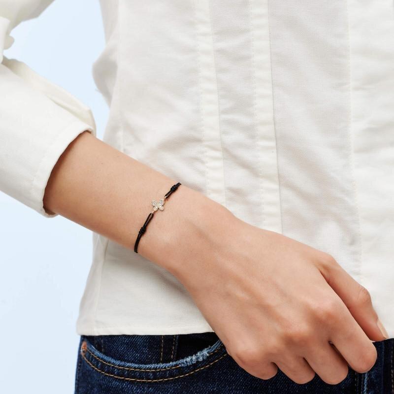 Butterfly Cord Gold Bracelet