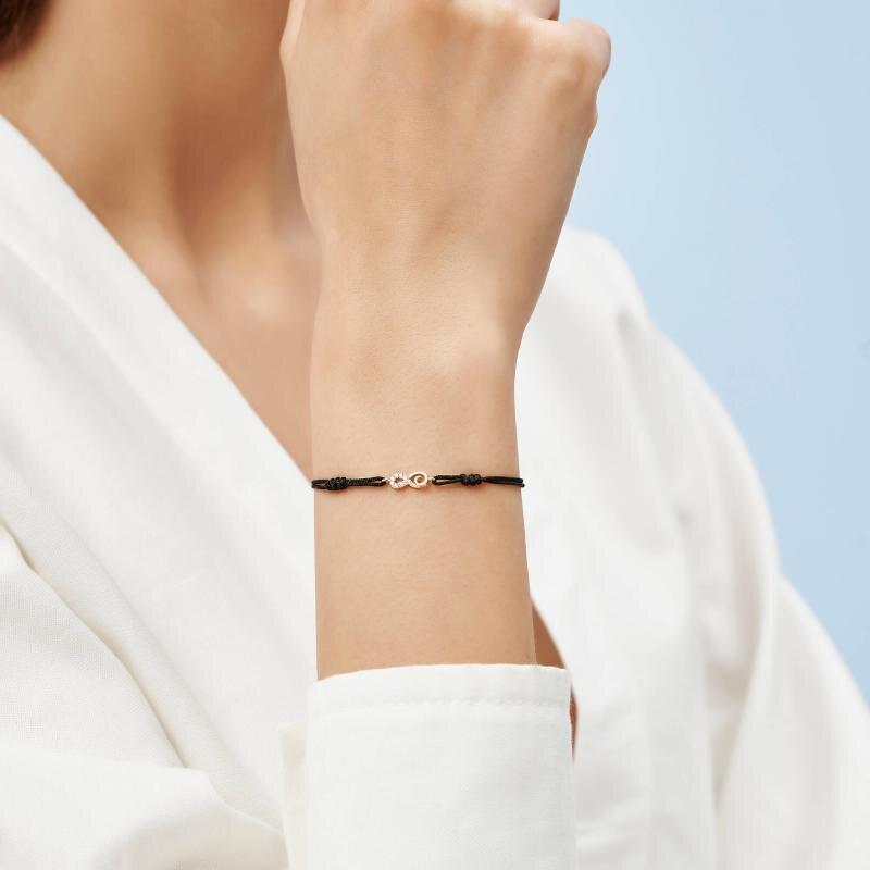 Infinity Cord Gold Bracelet