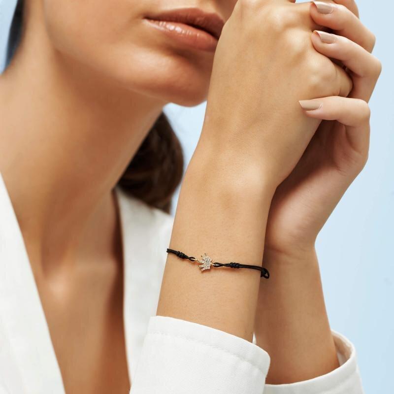 Crown Cord Gold Bracelet