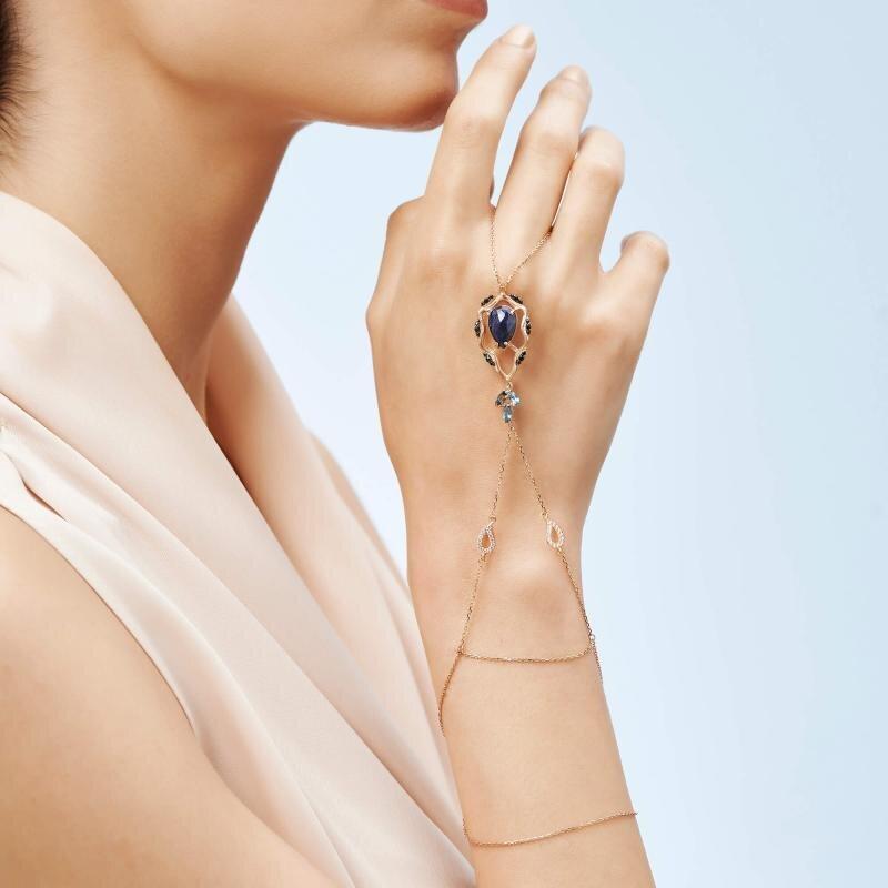 Femme Gold Finger Chain Bracelet