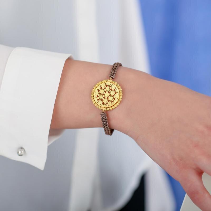 22K Flower of Life Gold Bracelet
