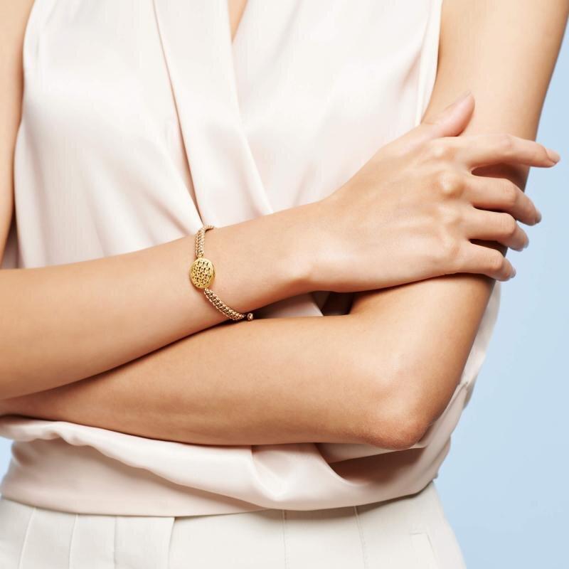 Flower of Life Gold Bracelet 22K