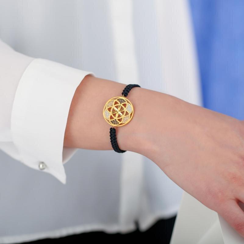 22 Carat Flower of Life Gold Bracelet