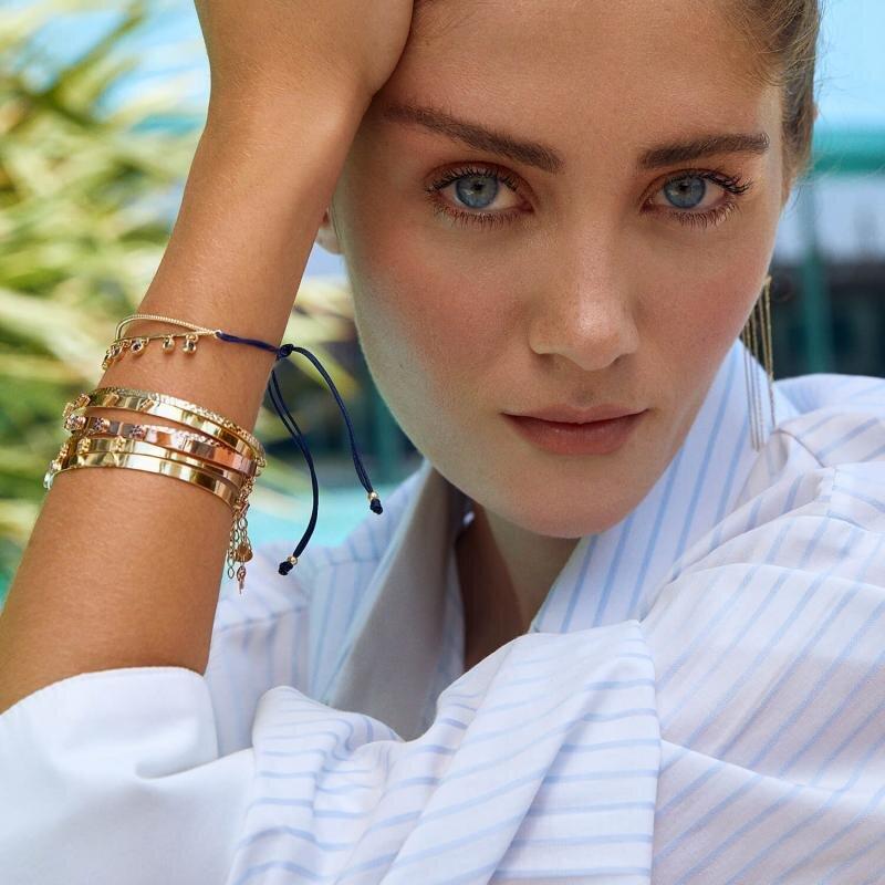 Marin Sapphire Gold Bracelet