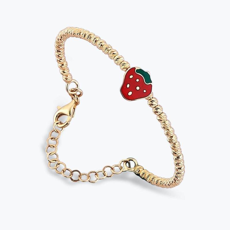 Kid's Strawberry Gold Bracelet