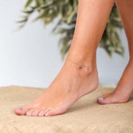 Marin Seahorse Anklet with Lapis Stone