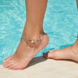 Shell Anklet with Lapis Stone - Marin