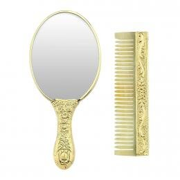 Hand Mirror and Comb Set