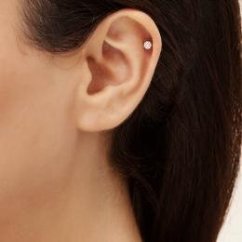Gold Ear Piercing
