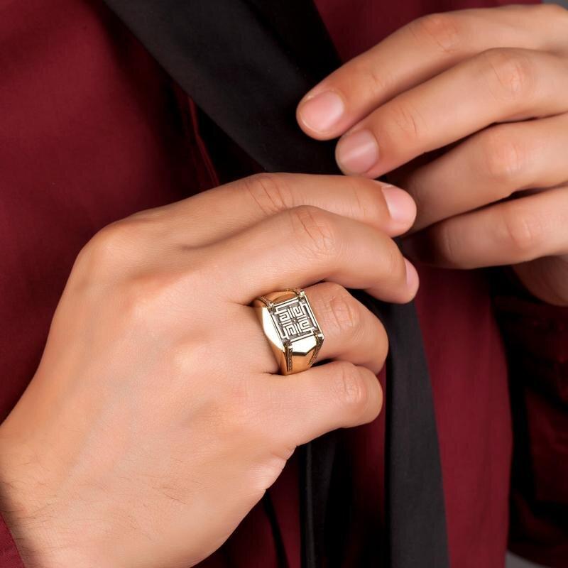 Altın Erkek La İlahe İllallah Yüzüğü