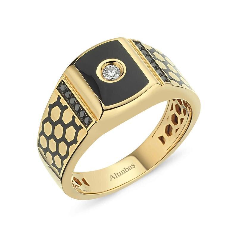 0.17 Carat Men's Diamond Ring