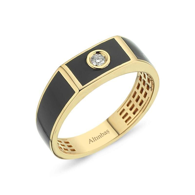 0.06 Carat Men's Diamond Ring
