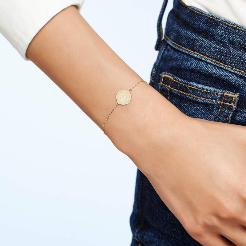 Altinbas Life Footprint Gold Bracelet
