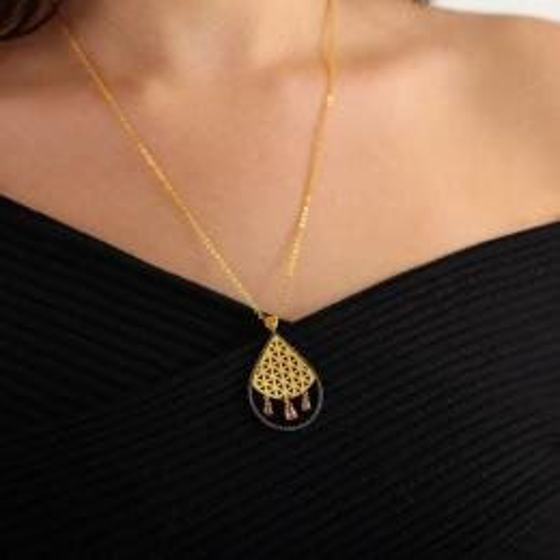 22 K Flower of Life Gold Necklace