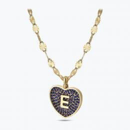 Marin Letter E Gold Necklace
