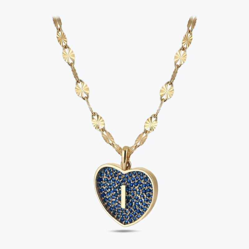 Marin Letter I Gold Necklace
