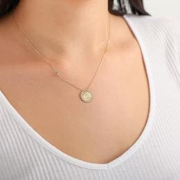 Zodiac Sign Gold Necklace Cancer