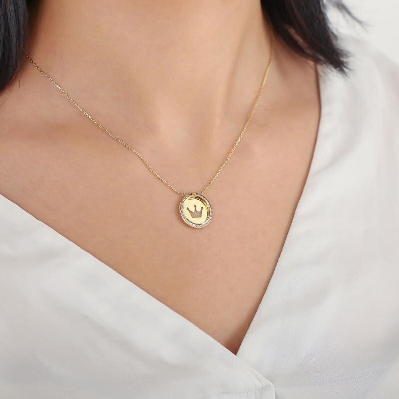 Altınbaş Life Crown Gold Necklace