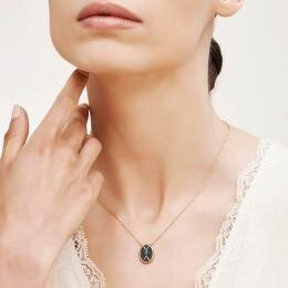 Cat's Eye Stone Gold Necklace