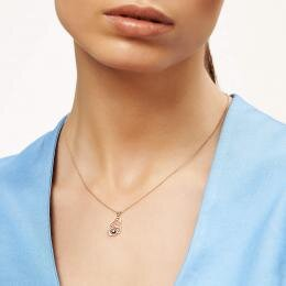 0.03 Carat Mom To Be Solitaire Diamond Necklace