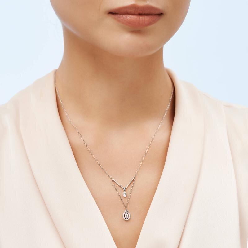 Collier Diamant Baguette
