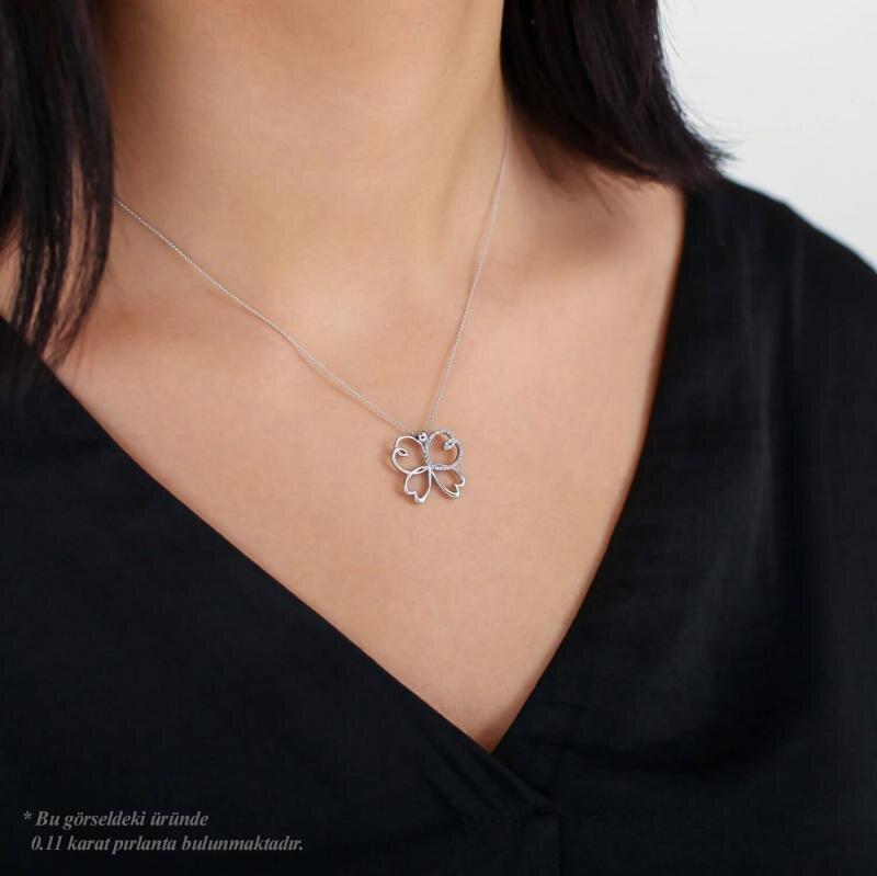 0.11 Carat Diamond Necklace- Mariposa