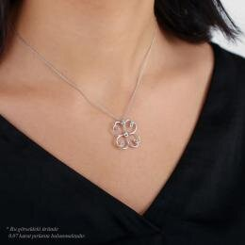 0.07 Carat Diamond Necklace- Mariposa