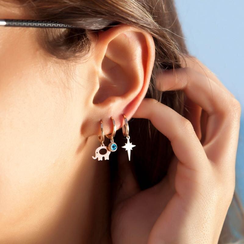 Elephant Gold Earring