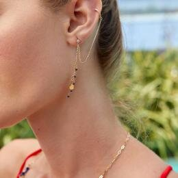 Marin Gold Earrings with Lapis Stone