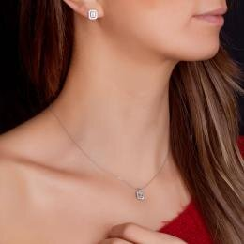 0.36 Carat Baguette Diamond Earrings
