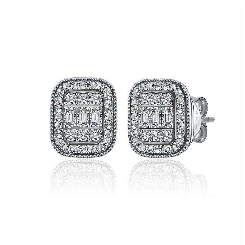 0.22 Carat Baguette Diamond Earrings