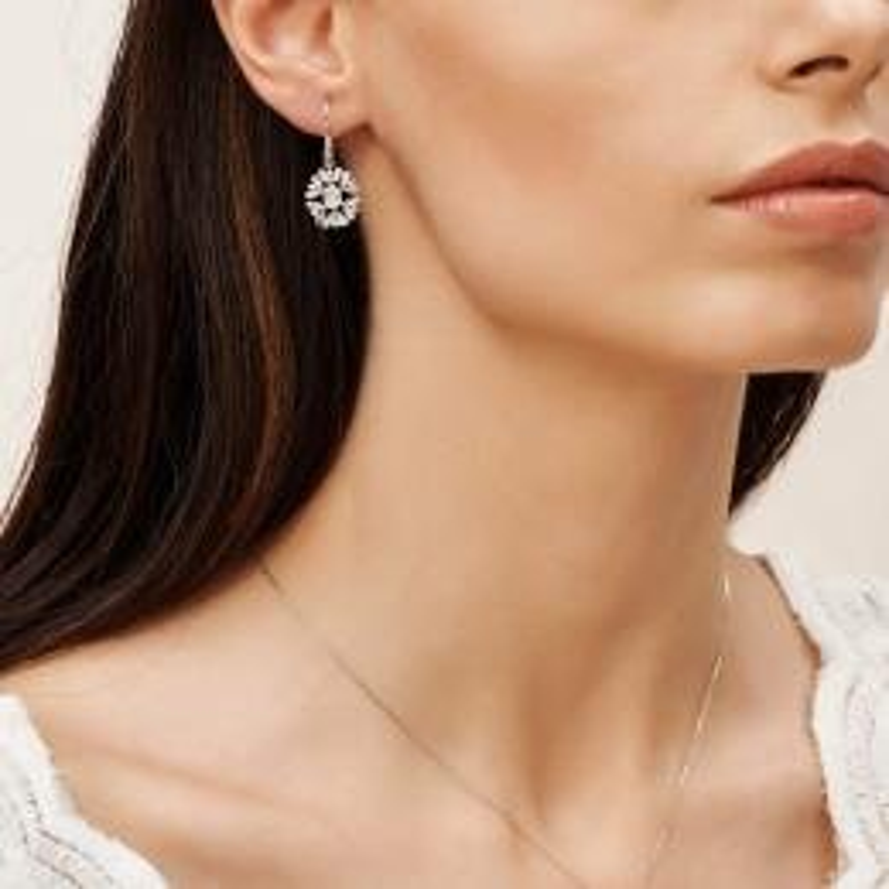 0.28 Carat Baguette Diamond Earrings