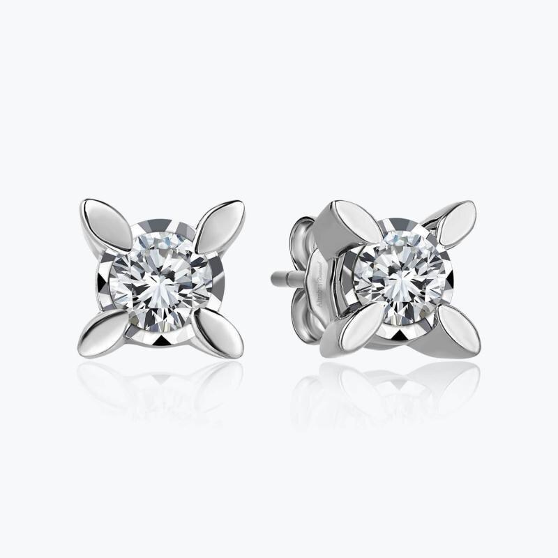 0.30 Carat Solitaire Diamond Earrings