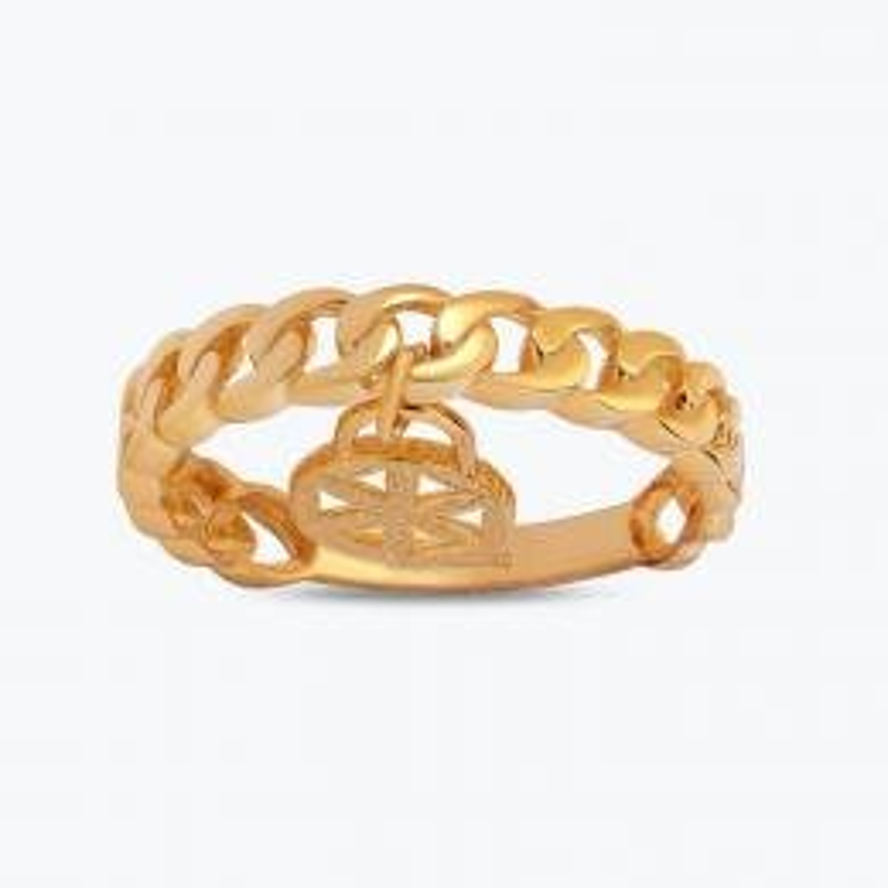 22 K Flower Of Life Gold Ring