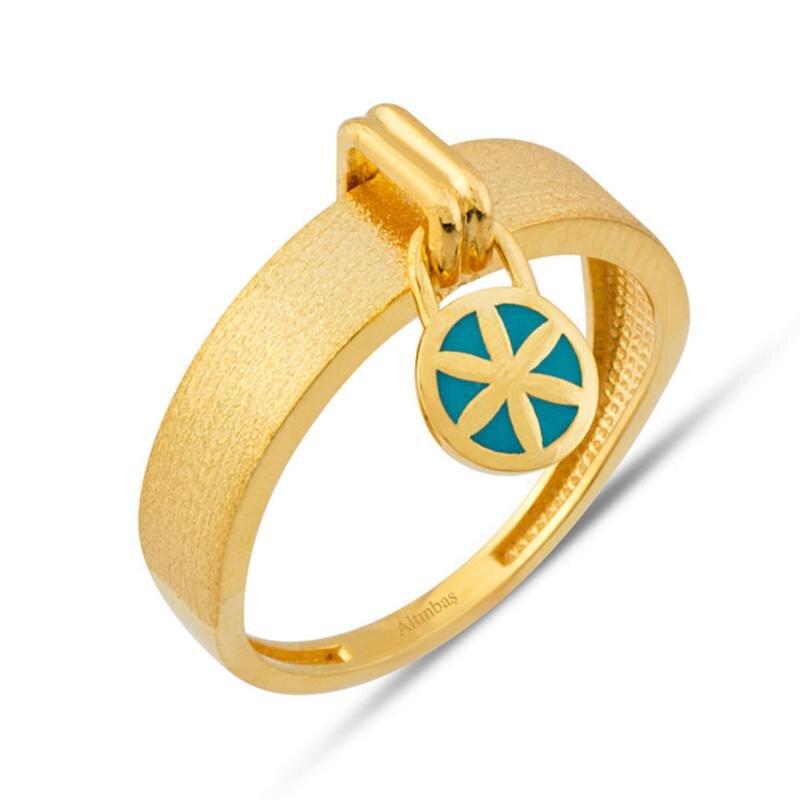 22K Gold Ring Flower of Love