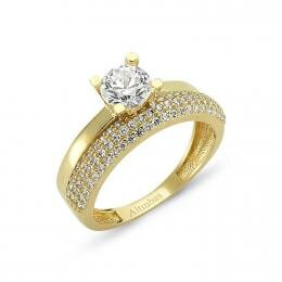 Bague Or Solitaire