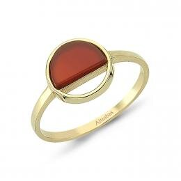 Agat Stone Gold Ring