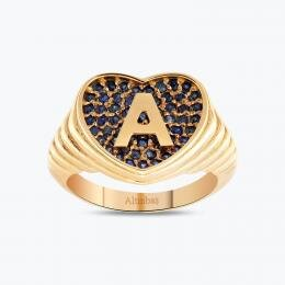 Marin Letter A Gold Ring