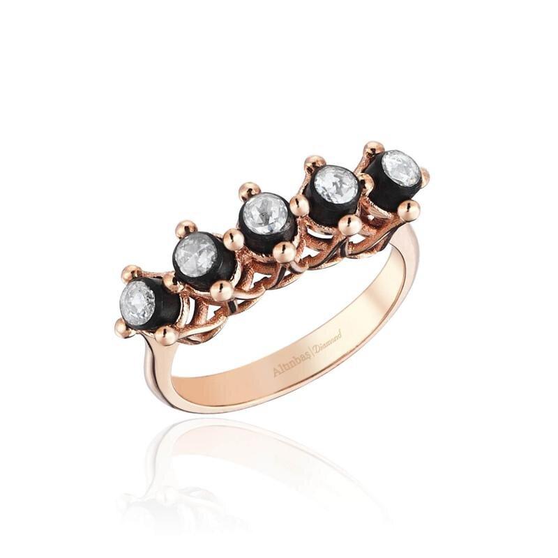 0.14 Carat Five Stone Diamond Ring