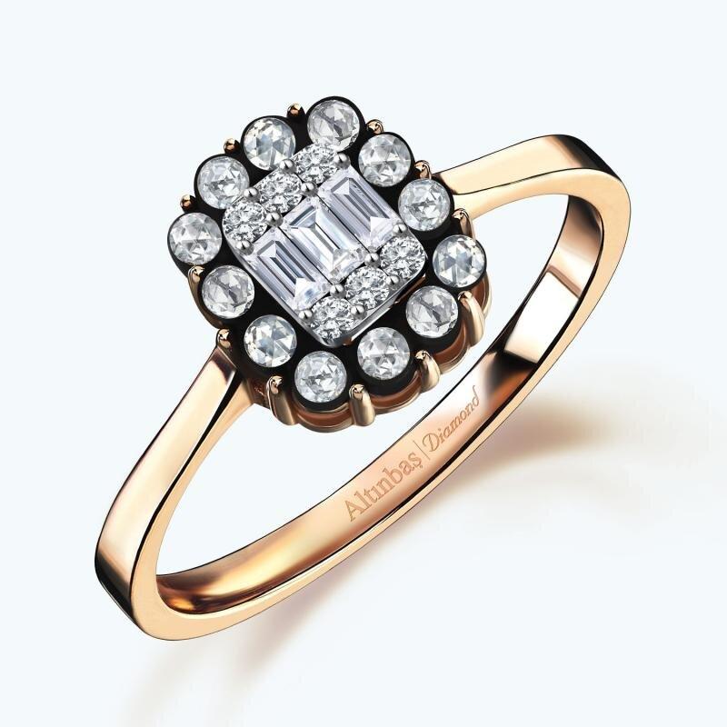 0.16 Carat Baguette Diamond Ring